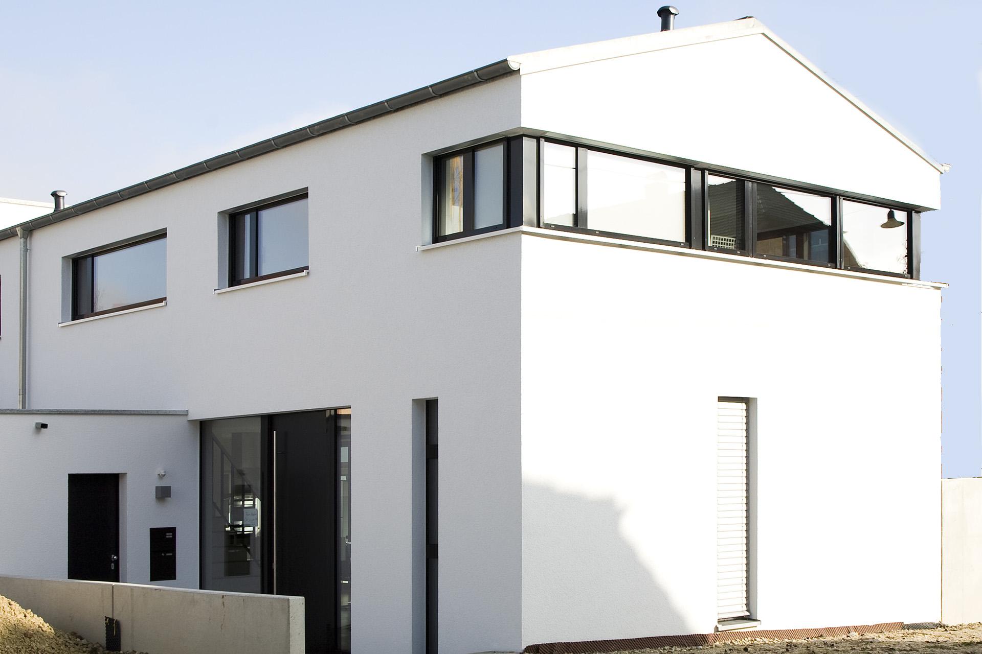neubau einfamilienhaus h hrbbauwerk gbr. Black Bedroom Furniture Sets. Home Design Ideas